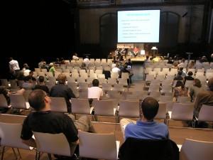 Der Saal bei der Session zu Internetsperren auf dem PolitCamp